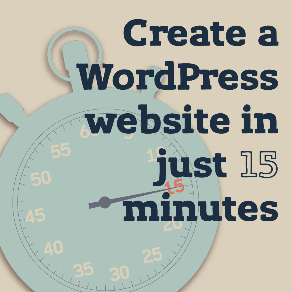 create a wordpress website in 15 minutes nuschool