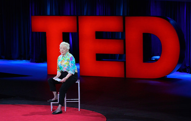dame stephanie shirley at her TED talk