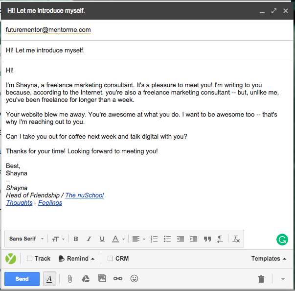 Mentor email